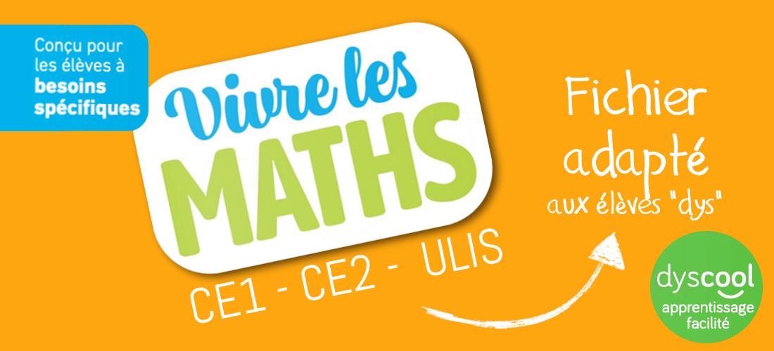 Fichiers adaptés – Vivre les maths CE1/CE2/ULIS